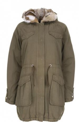 Куртка с капюшоном Lempelius. Цвет: хаки
