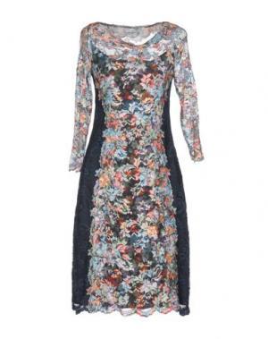 Платье до колена OLVI'S. Цвет: стальной серый