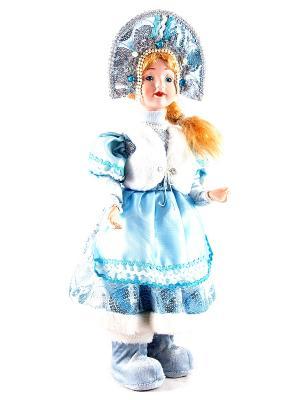 Фигурка интерьерная - кукла декоративная Снегурочка Русские подарки. Цвет: голубой, белый