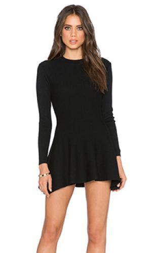 Платье-футляр с длинным рукавом Lucca Couture. Цвет: черный
