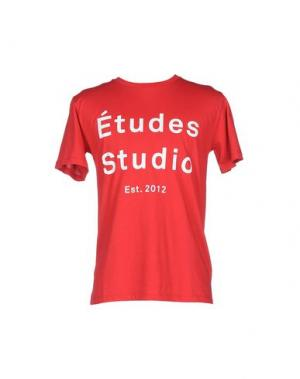 Футболка ÉTUDES STUDIO. Цвет: красный