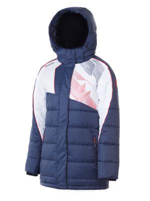 Куртка Утепленная Forward. Цвет: синий, белый