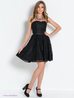 Платье People. Цвет: черный
