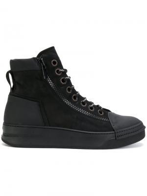Mid zipped sneakers Bruno Bordese. Цвет: чёрный