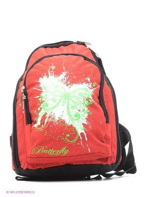 Рюкзак UNION. Цвет: салатовый, красный