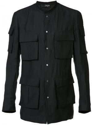 Рубашка с карманами Tom Rebl. Цвет: чёрный