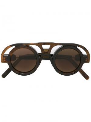 Солнцезащитные очки Maske Kuboraum. Цвет: коричневый