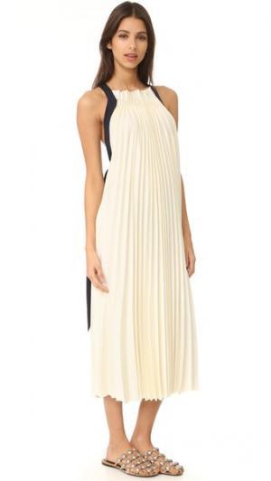 Без рукавов плиссированная макси-платье 3.1 Phillip Lim. Цвет: алебастровый