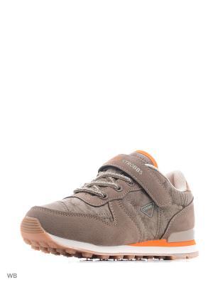 Кроссовки STROBBS. Цвет: коричневый