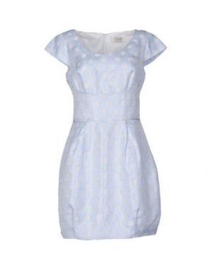 Короткое платье MUSANI COUTURE. Цвет: небесно-голубой