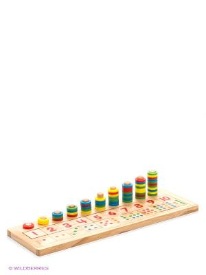 Логическая игра Счет VELD-CO. Цвет: синий, зеленый, светло-бежевый, желтый