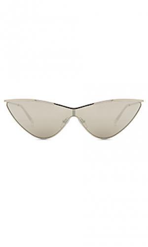 Солнцезащитные очки the fugitive Le Specs. Цвет: металлический серебряный