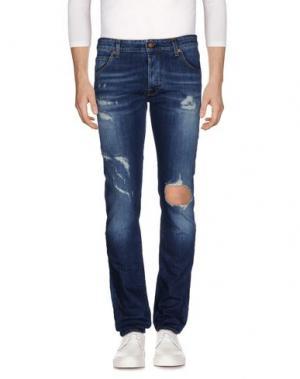 Джинсовые брюки REIGN. Цвет: синий