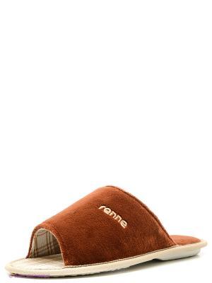 Тапочки renne. Цвет: коричневый