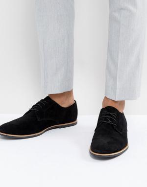 Zign Черные замшевые туфли. Цвет: черный