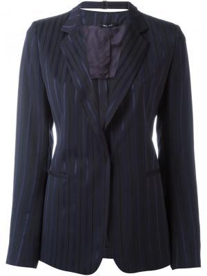Пиджак в тонкую полоску Maison Margiela. Цвет: чёрный
