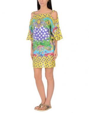 Пляжное платье VERSACE. Цвет: желтый