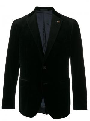 Фактурный пиджак Gabriele Pasini. Цвет: чёрный