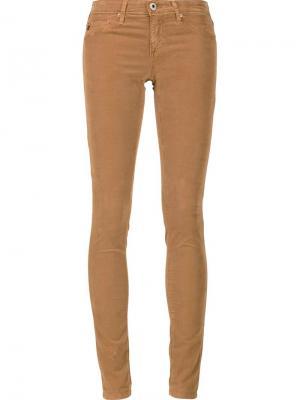 Джинсы кроя скинни Ag Jeans. Цвет: коричневый