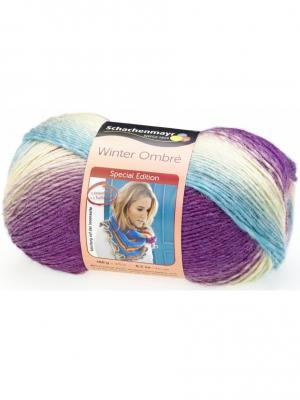 Пряжа Schachenmayr (80% акрил, 20% шерсть), 375м/150г (00088). Цвет: голубой, малиновый, розовый, серый, сиреневый, фиолетовый