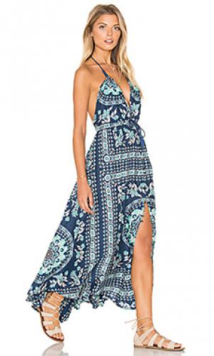 Платье pandora kerchieft Spell & The Gypsy Collective. Цвет: сине-зеленый