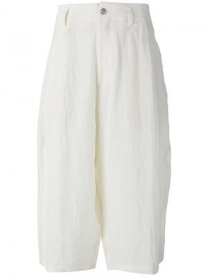 Long bermuda shorts Yohji Yamamoto. Цвет: белый