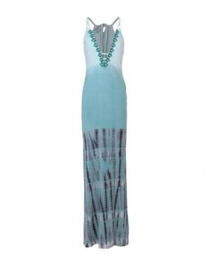 Длинное платье HALE BOB. Цвет: небесно-голубой