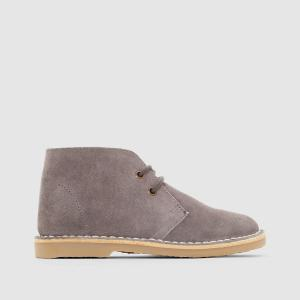 Ботинки из спилка 26-40 La Redoute Collections. Цвет: серый,темно-бежевый,темно-синий