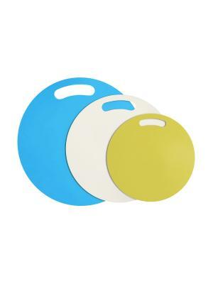Набор разделочных досок Ассорти RUGES. Цвет: голубой, белый, желтый