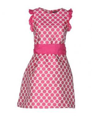 Короткое платье LA CAMICIA BIANCA. Цвет: фуксия