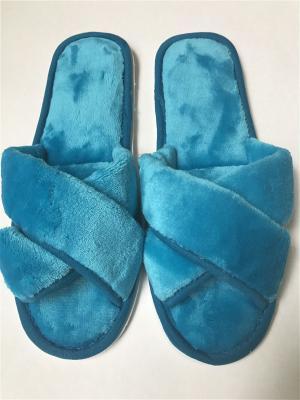 Тапочки женские с открытым носком Dream time. Цвет: бирюзовый