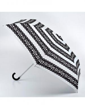 Зонт механический Мексиканская полоска  by Fulton Lulu Guinness. Цвет: черный