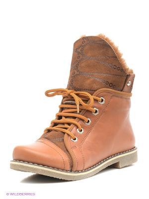 Ботинки Roccol. Цвет: рыжий