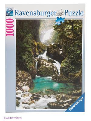 Паззл Водопад Маккей. Новая Зеландия 1000 шт Ravensburger. Цвет: зеленый, белый, бирюзовый
