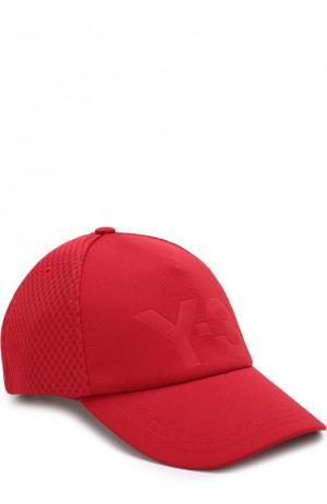 Бейсболка с перфорированной вставкой и логотипом бренда Y-3. Цвет: красный