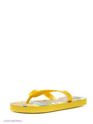 Шлепанцы Mon Ami. Цвет: желтый