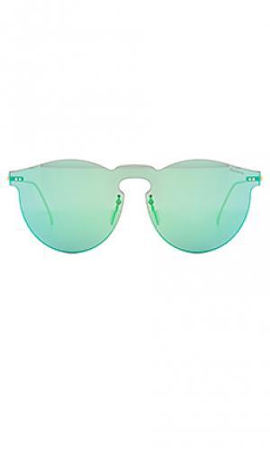 Солнцезащитные очки leonard mask illesteva. Цвет: металлический золотой