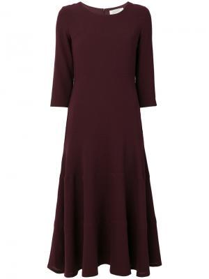 Расклешенное платье миди Goat. Цвет: розовый и фиолетовый