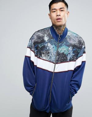 ASOS Трикотажная спортивная куртка. Цвет: темно-синий