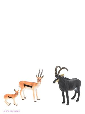 Набор фигурок Антилопы MOJO. Цвет: коричневый, рыжий