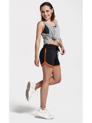 Спортивные шорты Sheldi. Цвет: черный, оранжевый
