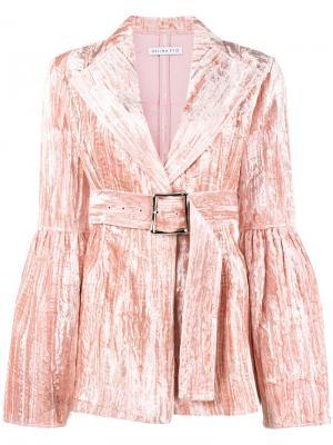 Бархатный блейзер Claire Rejina Pyo. Цвет: розовый и фиолетовый