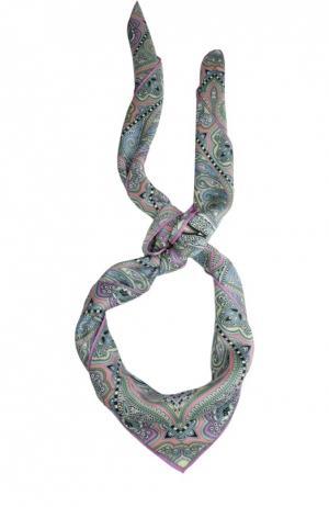 Шелковый платок с принтом Michele Binda. Цвет: розовый