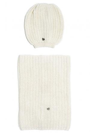 Комплект (шапка и снуд) 153128 Sos Chic. Цвет: белый