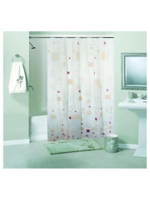Штора для ванной комнаты 180х180см, Мозаика бежевая, PEVA NIKLEN. Цвет: бежевый