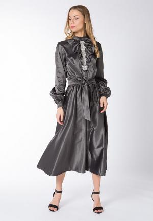 Платье Yaroslavna. Цвет: серый