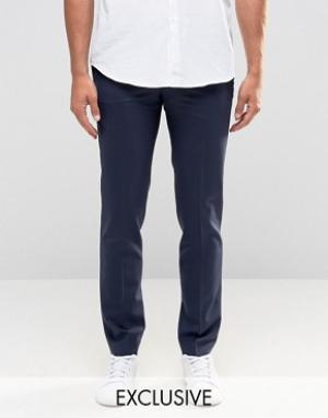 Noak Супероблегающие брюки. Цвет: темно-синий