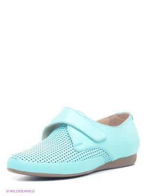 Туфли Spur. Цвет: голубой