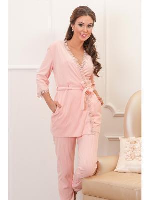 Пижама CLEO. Цвет: персиковый