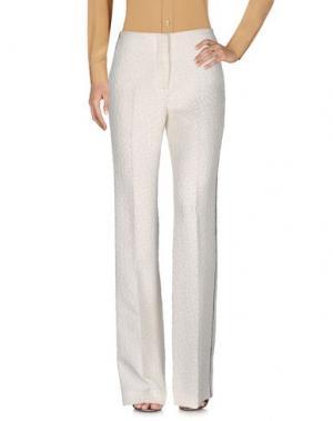 Повседневные брюки MARCO DE VINCENZO. Цвет: белый